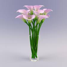 3d Flower Vase Vase Calla Flowers