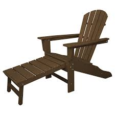 Brown Adirondack Chairs Polywood South Beach Ultimate Adirondack Chair With Hideaway