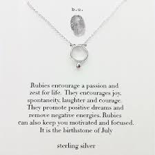 silver necklace ruby images B u july birthstone ruby sterling silver necklace sheva jewelry jpeg