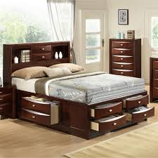 King Bed With Storage Underneath Emily 111 Wood Storage Bed Group With King Bed Dresser Mirror