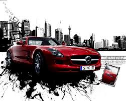 mercedes sls wallpaper wallpaper mercedes sls amg in da city d reworked