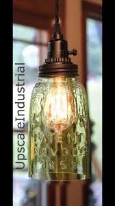 Industrial Rustic Lighting Mason Jar Light Pendant Light Rustic Lighting Kitchen Island