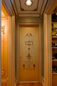 Painted Wall Paneling by Beaux Artes Carpentry Custom Painting On The Door Wall Panel On