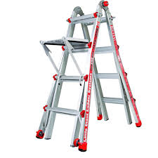 werner 17 ft aluminum telescoping multi position ladder with 300
