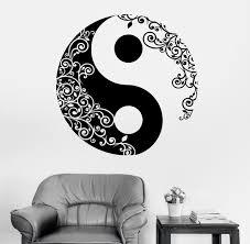 aliexpress yang mandala wall sticker home decal buddha yin yang floral yoga