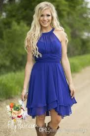 cheap royal blue bridesmaid dresses royal blue country bridesmaid dresses 2015 modest halter