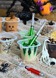 halloween party snacks toxic waste pudding cups easy to make