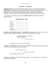 Calculations Significant Figures Worksheet Answers Significant Figures Worksheet Determine The Number Of Library