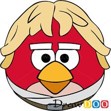 draw luke skywalker angry birds