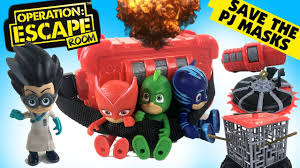 pj masks play operation escape room spy code by yulu toys family
