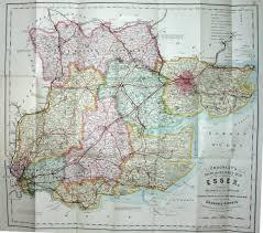 Essex England Map by Cruchley 1895 Fm