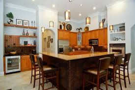 large kitchen island with seating and storage and sink for large