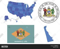 State Map Of Usa by Vector Illustration Of State Delaware Contains High Detailed Map