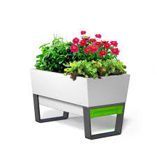 Self Watering Planters White Self Watering Planters Pots U0026 Planters The Home Depot