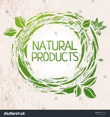 natural products green colored sketch label stock vector 205643599
