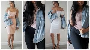 how to style an oversized denim jacket youtube