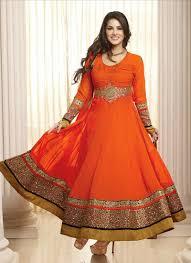 orange color anarkali dress 2 suitanarkali in