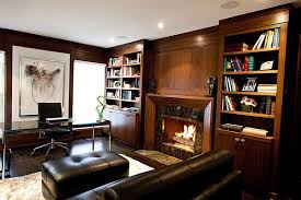 Dark Wood Bookshelves by Office Cozy Home Office Study Room With Wood Desk And Gray