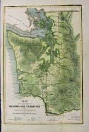 Cascade Mountains Map Prints Old U0026 Rare Washington Page