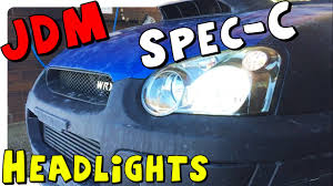 exterior usa vs jdm different front grille subaru impreza 04 05 subaru sti jdm spec c hid headlight swap youtube