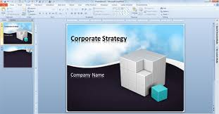 free business powerpoint template with animated clouds video and