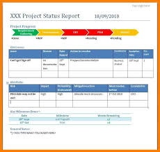 Project Daily Status Report Template Excel Project Report Template Project Report Project Closure