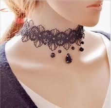 vintage lace choker necklace images Vintage lace choker gorgeous goth jpg