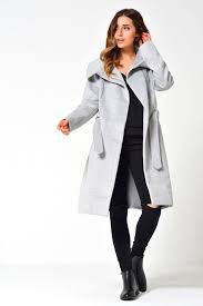 light grey wool coat vila dahlia wool coat in light grey iclothing