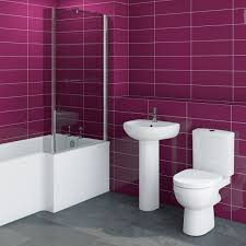 orchard eden bathroom suite with right handed l shaped shower bath