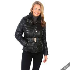womens warm padded quilted puffer jacket fur hood short la s