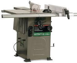 hitachi table saw review hitachi c10la hybrid tablesaw finewoodworking