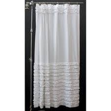 Black Ruffle Shower Curtain Amelie Ruffle 54 Inch X 78 Inch Shower Curtain In White