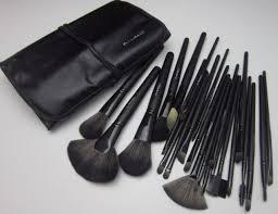 leather pouch middot mac professional makeup kits s 24 pcs 24 piece jet black make up