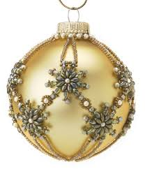 vintage handmade beaded vintage ornaments 4