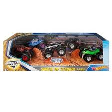wheels monster jam trucks wheels monster jam smash up stadium vehicle 5pk styles may
