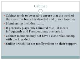 What Is The Role Of Cabinet Members The Cabinet And Exop