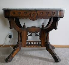 Eastlake Marble Top Bedroom Set Oak Table With Leaves Oak Table With Marble Top Oak Table With