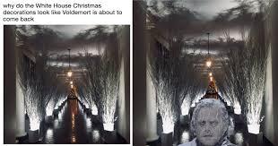 White Christmas Meme - melania s creepy christmas decorations are inspiring some dark memes