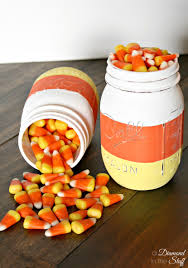 Halloween Candy Jars by Diy Candy Corn Mason Jars