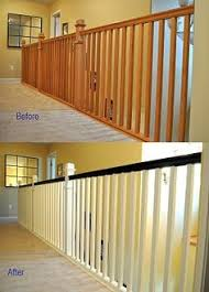 How To Stain Wood Banister How To Gel Stain Banisters Without Sanding Practicallyspoiled