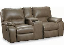 home theater loveseat recliners lane thad double reclining console loveseat lane furniture