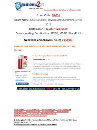 free braindump2go latest 70 331 exam questions 21 30 share point
