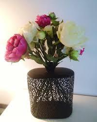 Vase Pour Composition Florale Grand Vase En Métal Design U0026 Bouquet De Pivoine Fleurs