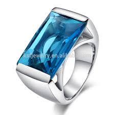 rings blue stone images Stainless steel custom class rings 13mm blue stone ring for men jpg