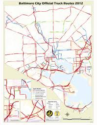 baltimore routes map baltimore truck route maplets