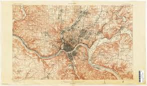 Map Of Cincinnati Ohio Historical Topographic Maps Perry Castañeda Map Collection