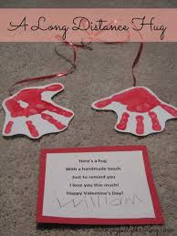 a long distance hug on valentine u0027s day preschooler crafts long