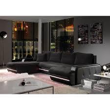 position canap canapé d angle gala noir à led position angle achat vente