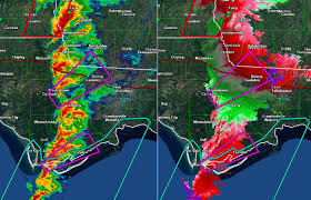 Map Florida Panhandle by Severe Weather Outbreak Down South January 22nd 2017