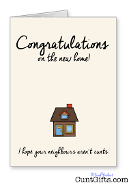 congratulations on the new home greeting card gifts